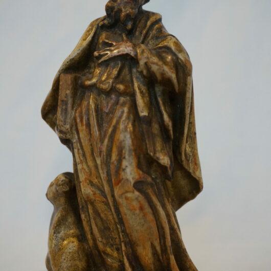 Antiek, Sculptuur, Lindehouten sculptuur modius, 18e eeuw