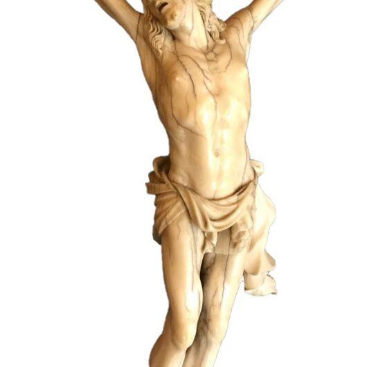 Antiek, Religieuze kunst, Ivoren corpus, rond 1700 - SOLD